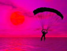 Free Parachutist Royalty Free Stock Images - 5152749