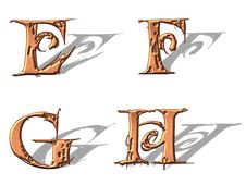 Free Capital Letters Copper 2 Stock Photos - 5153143