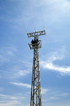 Free Electricity Tower Front Royalty Free Stock Image - 5153176