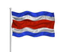 Free Costa Rica Flag 2 Stock Images - 5153754