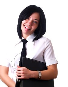 Free Businesswoman Is Sticking Out Her Tongue Stock Photo - 5154010