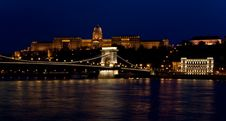 Free Budapest Night Danube View Royalty Free Stock Photo - 5154925