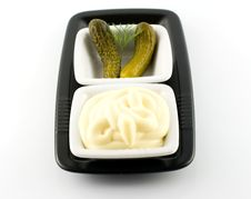 Free Mayonnaise And Pickled Gherkin And Dill Royalty Free Stock Photo - 5154945