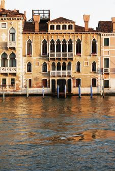 Free Venice, Italy - Water Front Facade Stock Image - 5155051