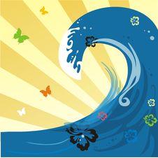 Summer Ocean Wave Royalty Free Stock Photo