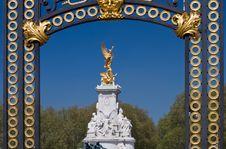 Framed Victoria Memorial Royalty Free Stock Photos