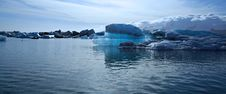 Panoramic View Of A Beautiful Blue Iceberg Royalty Free Stock Photo