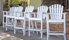Free Five Wood Chairs Stock Photo - 5155680