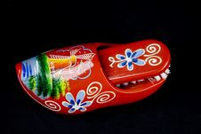 Red Shoe Brush Stock Photo