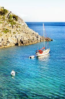 Free Turquoise Mediterranean Sea Stock Image - 5156401
