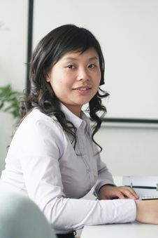 Free Young Asian Women In Meeting Room Stock Photography - 5156662