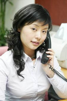 Young Asian Women With Phone Royalty Free Stock Photo