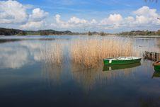 Rowboat At Lake Royalty Free Stock Photos