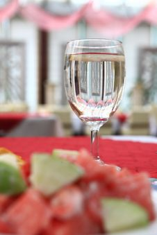 Free Appetizing Salad On A Plate With Cup Of Drinking Royalty Free Stock Images - 5156989