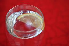 Lemon In In Soda Water Stock Images