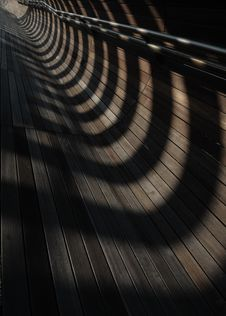 Free Converging Lines And Shadows Royalty Free Stock Image - 5157136