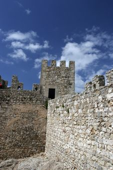 Free Castle Wall Perspective Stock Photography - 5157262