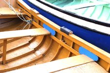 Detail Of Two Boats At The Dock Stock Photo