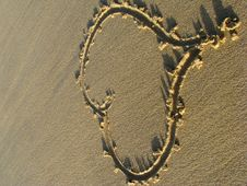 Free Heart On The Sand Stock Photos - 5157713