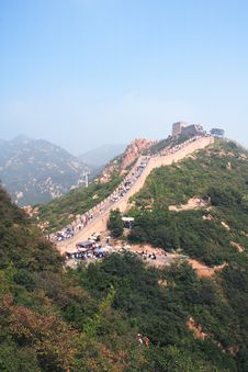 Free Famous Great Wall And People Stock Images - 5158004