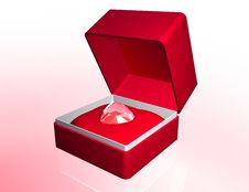 Jewellery Box With Diamond Royalty Free Stock Photography