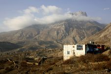 Little Village House In The Himalayas Stock Photos