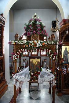 Monastery Near Spili(Crete - Greece) Royalty Free Stock Photo