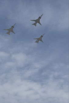 Free Russian Air Force, 3 Tupolev Tu-22M. Royalty Free Stock Photography - 5158967
