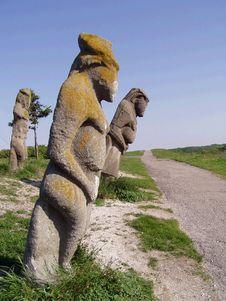 Free Stone Statues Stock Image - 5159261