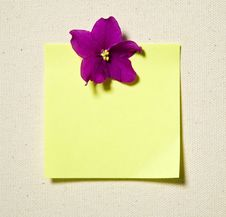 Free Note With Flower Stock Photo - 5159490