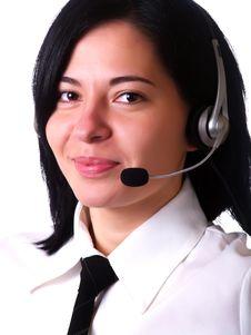 Free Pretty Customer Service Representative Lady Royalty Free Stock Photo - 5160415