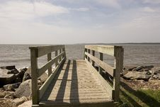Free Walkway Into Sea Stock Photography - 5160562