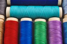 Free Colored Sewing Spools Royalty Free Stock Photo - 5165715