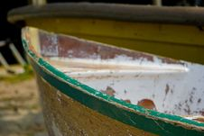 Free Boat Washed Up Royalty Free Stock Photography - 5166157