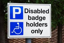 Free Disabled Parking Bay Stock Photos - 5166233