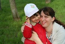 Little Girl With Her Mother Royalty Free Stock Images