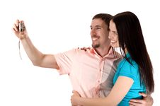 Free Young Couple Taking A Photo Stock Image - 5168171