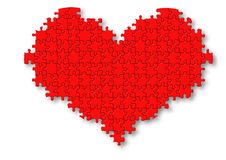Free Red Puzzle Heart Illustration Royalty Free Stock Photo - 5169195