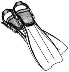 Free Pair Of Scuba Diver S Fins Stock Photography - 5169402