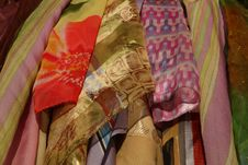 Colorful Scarfs And Shawls Royalty Free Stock Photos