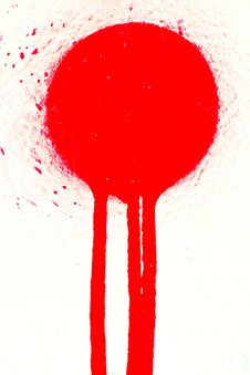 Free Red Sprayed Paint Stain Royalty Free Stock Photo - 5169595
