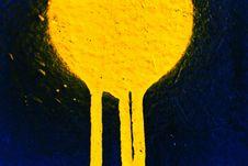 Free Yellow Sprayed Paint Stock Photo - 5169640