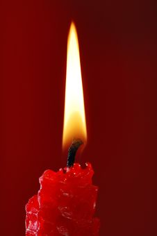 Free Red Candle. Stock Images - 5169724