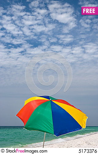 Free Colorful Beach Background Royalty Free Stock Image - 5173376