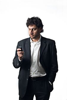 Free Business Man Replying A Call Stock Photo - 5171460