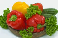 Free Red And Yellow Pepper. Stock Image - 5173561