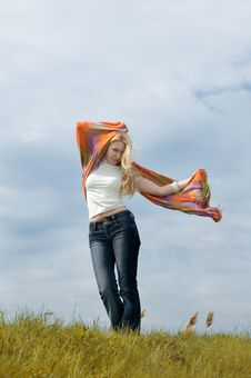 Free Girl With Scarf Royalty Free Stock Photos - 5174008