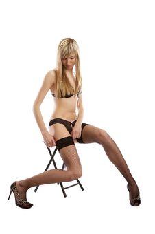 Free Sexy Underwear Model Undressing Stock Photos - 5174173