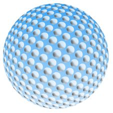 Free Blue Spotted Ball Royalty Free Stock Photos - 5174318