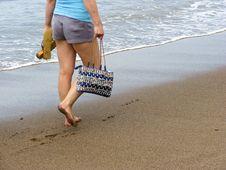 Free Strolling On Beach Stock Image - 5174321